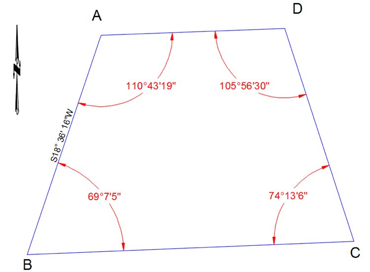Solved Given The Interior Angles Of A Four Sided Polygon