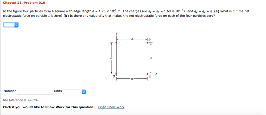 Physics archive august 22 2017 chegg chapter 21 problem 010 in the figure four particles form a square with edge length fandeluxe Image collections