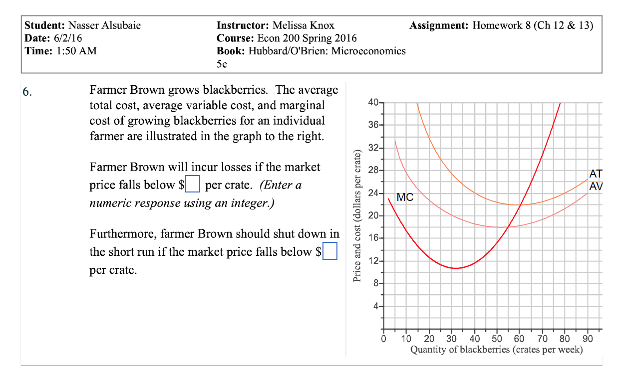 Solved: Farmer Brown Grows Blackberries  The Average Total