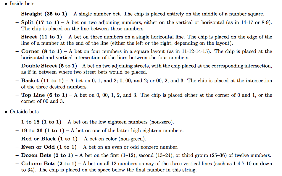 Solved: Roulette Worksheet. Referring To The Roulette Work ...