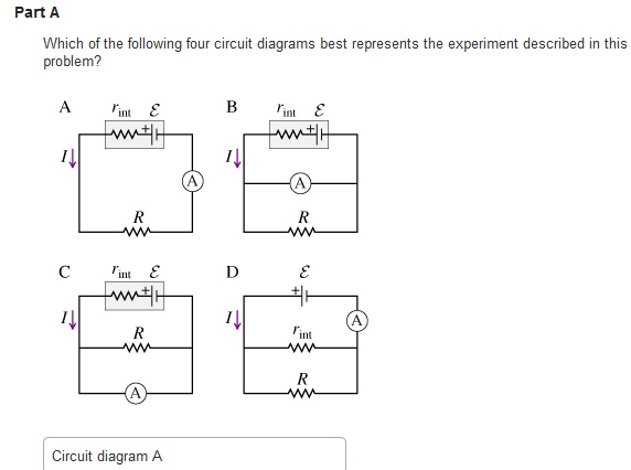 Solved  Part A Which Of The Following Four Circuit Diagram