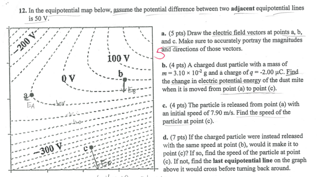 Solved In The Equipotential Map Below Assume The Potenti - Make points on a map