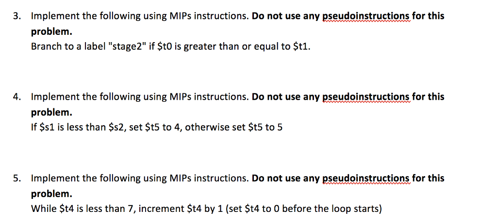 Solved Implement The Following Using Mips Instructions D