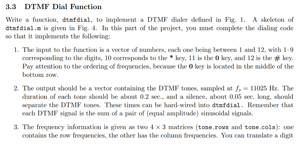 3 3 DTMF Dial Function Write A Function, Dtmfdial