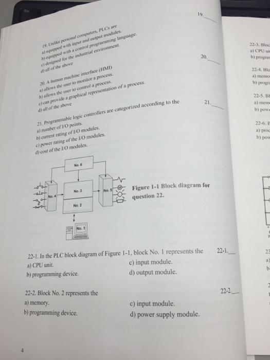Solved: Unlike Personal Computers PLCs Are Equipped With I