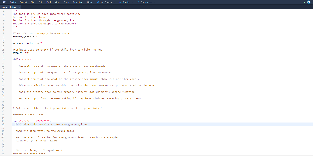 solved the language needed is python project 2 groce
