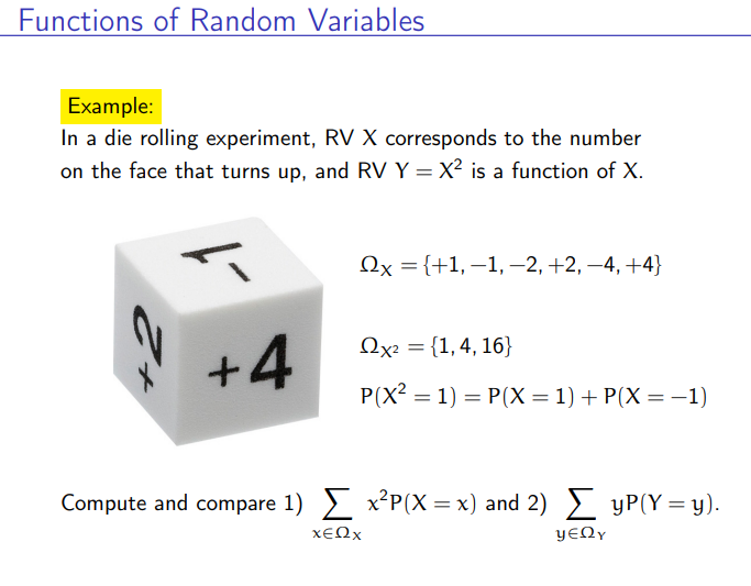 Expectation of a function of a random variable - example 1 youtube.