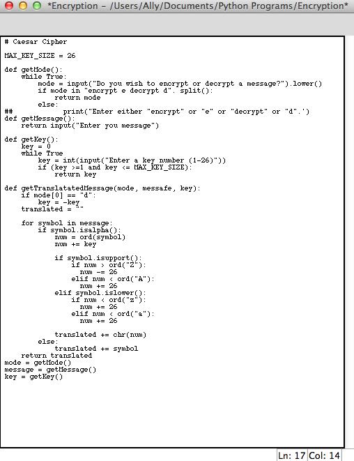 Solved: I Am Trying To Make Encryption/decryption Program