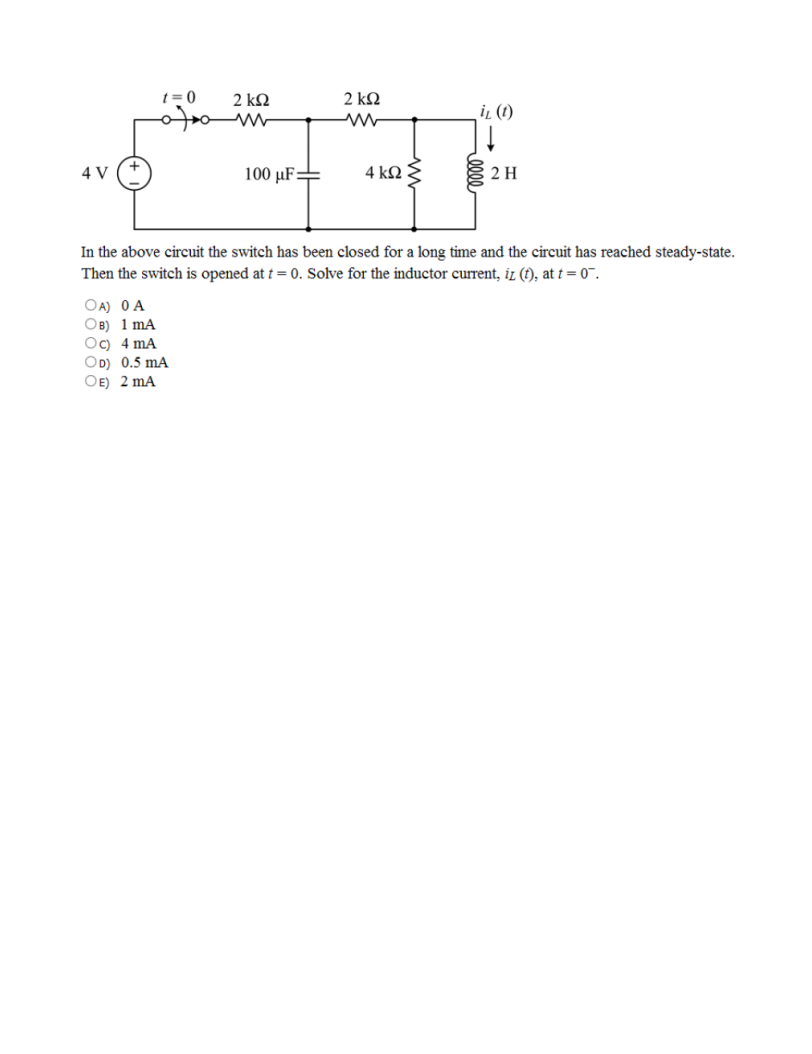 solved in the above circuit the switch has been closed fo rh chegg com