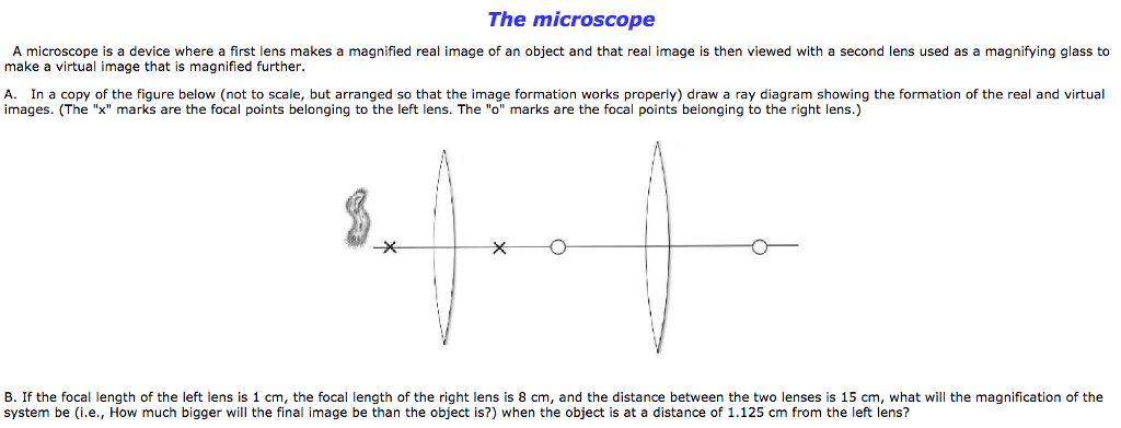 Solved a microscope is a device where a first lens makes question a microscope is a device where a first lens makes a magnified real image of an object and that re ccuart Image collections