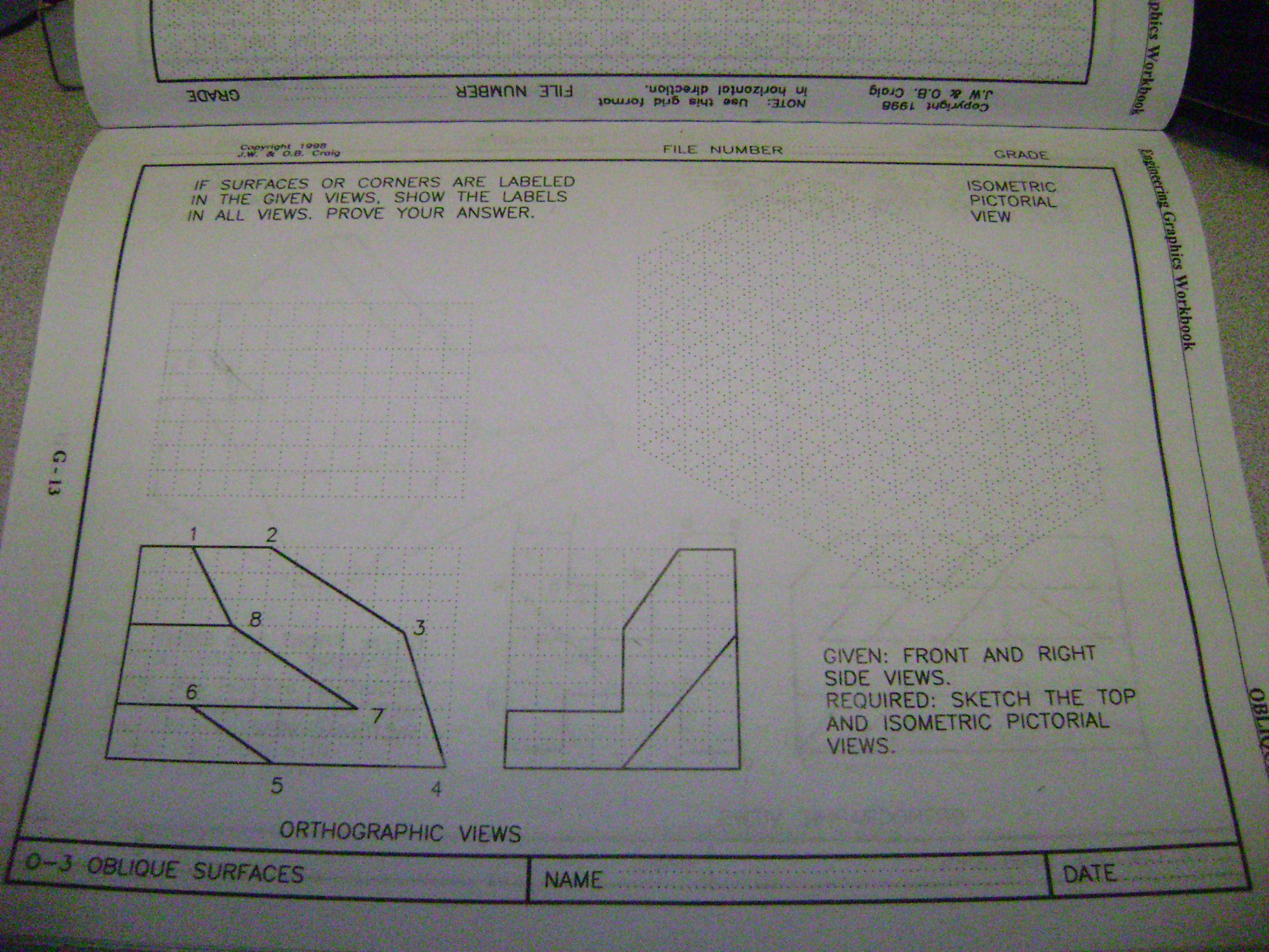 easy engineering drawing assignment i can t visua com easy engineering drawing assignment i can t visualize these need quick response just draw the top view and isometric pictorial view for both of these