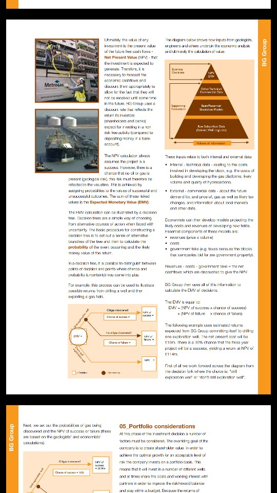 Read The Case Study Entitled BG Group: Calculating