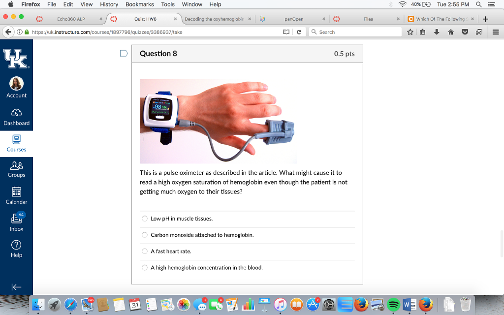 Solved: This Is A Pulse Oximeter As Described In The Artic