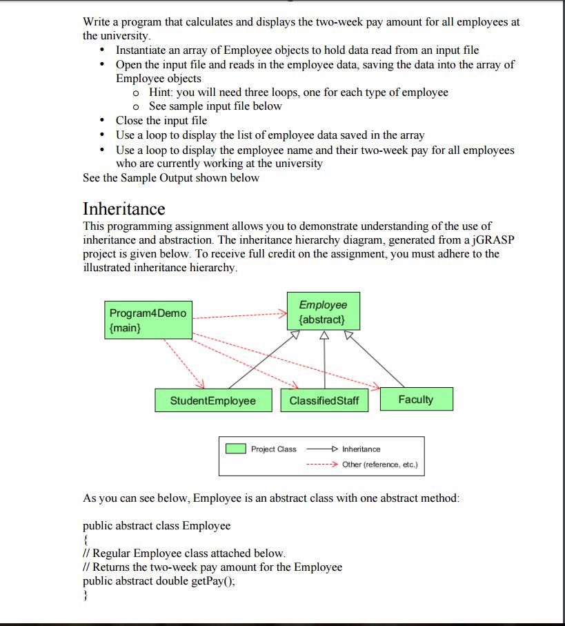 Solved: Assingment 4 Java Program