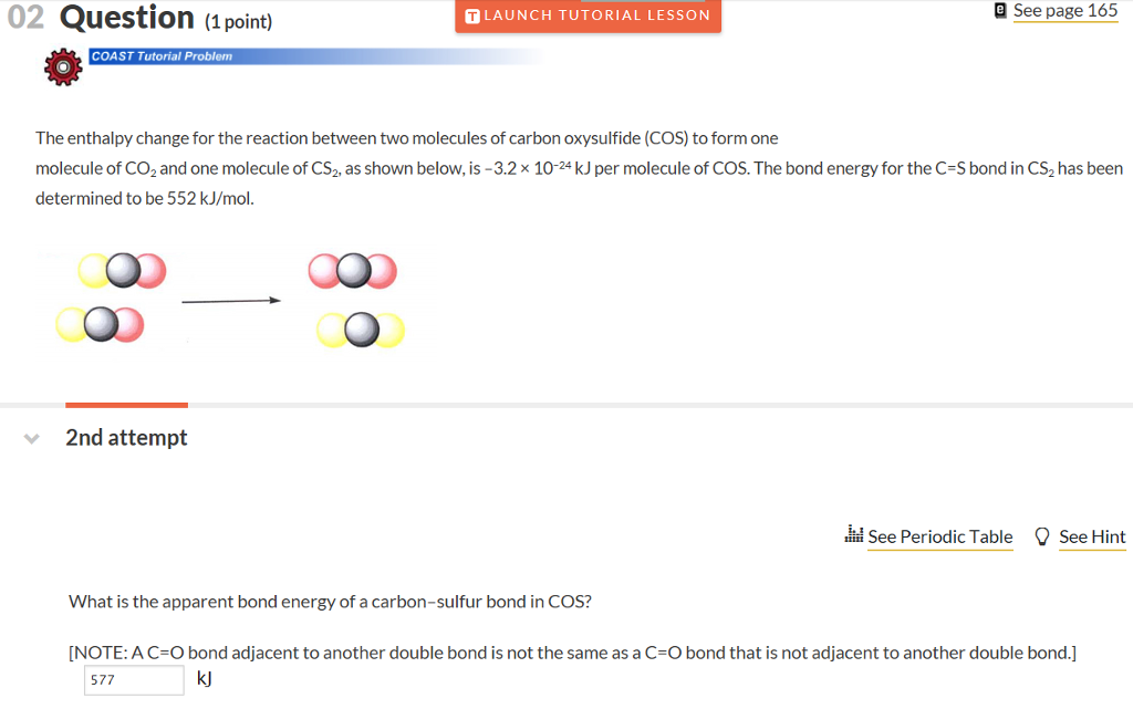 Solved: 02 Question (1 Point) See Page 165 TLAUNCH TUTORIA