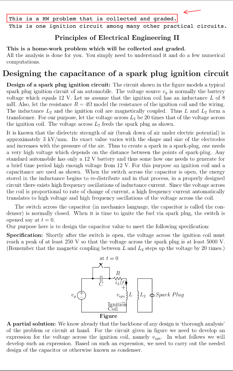 Design Of A Spark Plug Ignition Circuit The Circu Capacitor And Resistor Are There As Arrestor For Your
