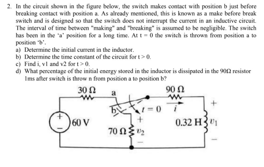 Solved: 2. In The Circuit Shown In The Figure Below, The S ...