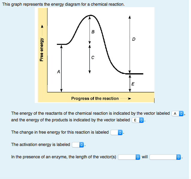 Solved  The Graph Represents The Energy Diagram For A Chem