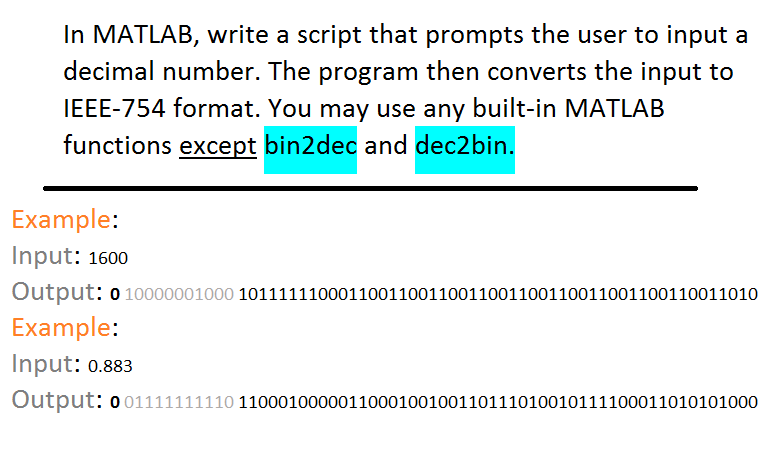 In MATLAB, Write A Script That Prompts The User To