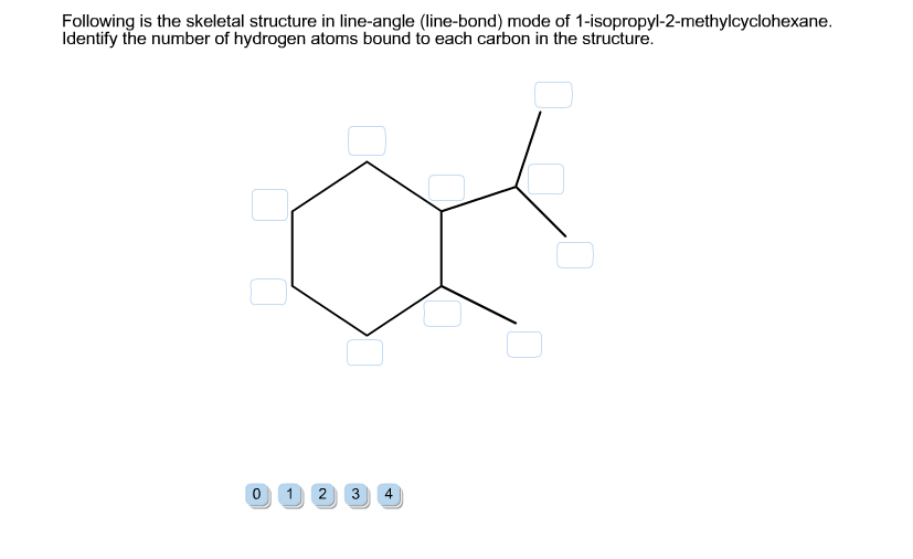 Solved: Following Is The Skeletal Structure In Line-angle ...
