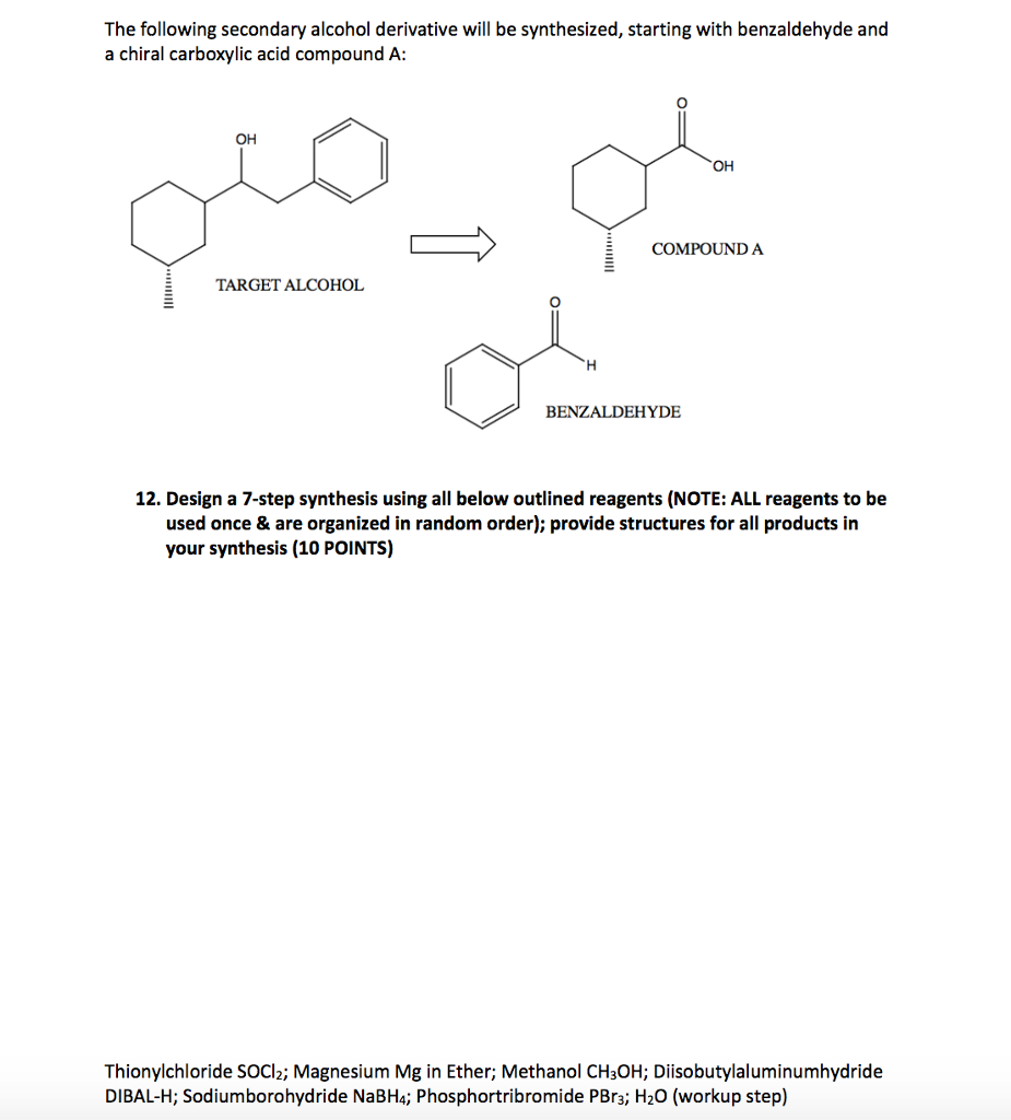 02240d3eb149 The following secondary alcohol derivative will be synthesized