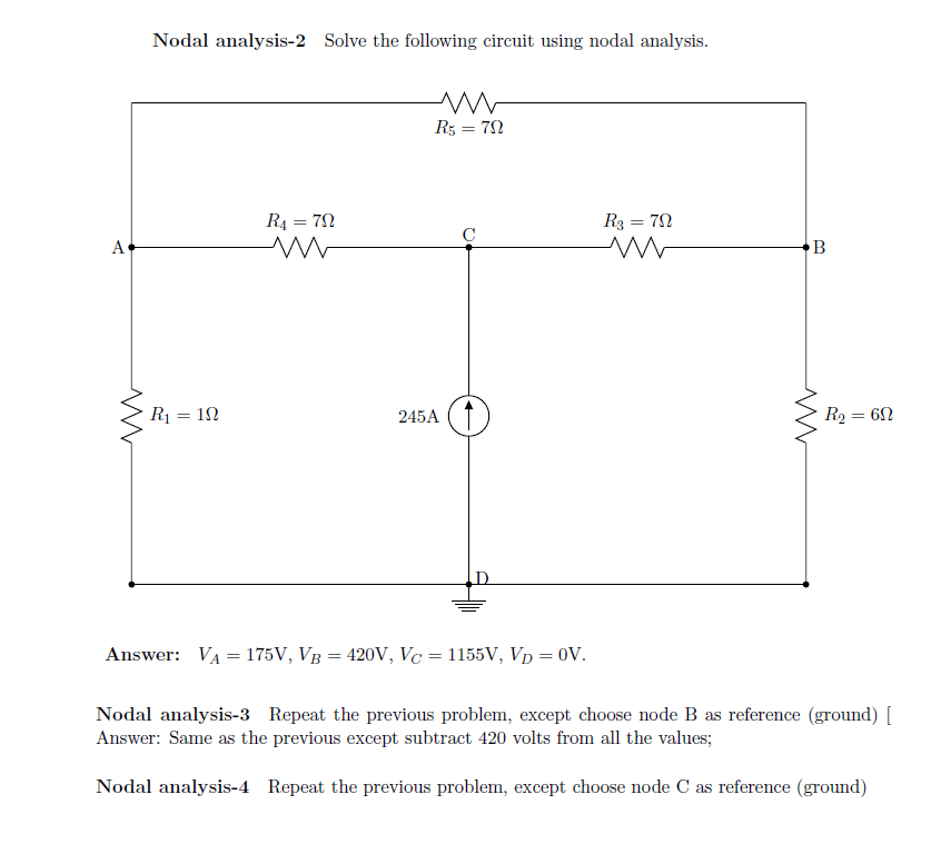 nodal analysis solved problems pdf