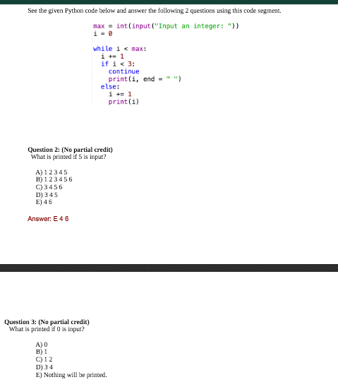 Solved: See The Given Python Code Below And Answer The Fol