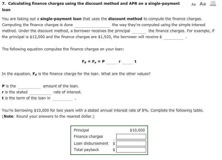 solved 7 calculating finance the discount the discount m