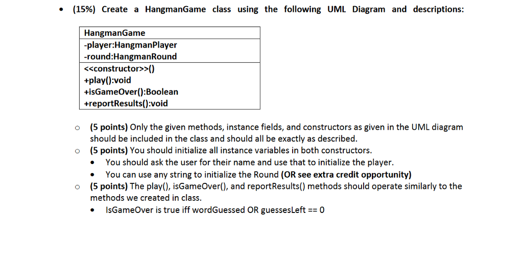 Solved 60 points create a hangmanround class using the need help with homework using java program ccuart Image collections