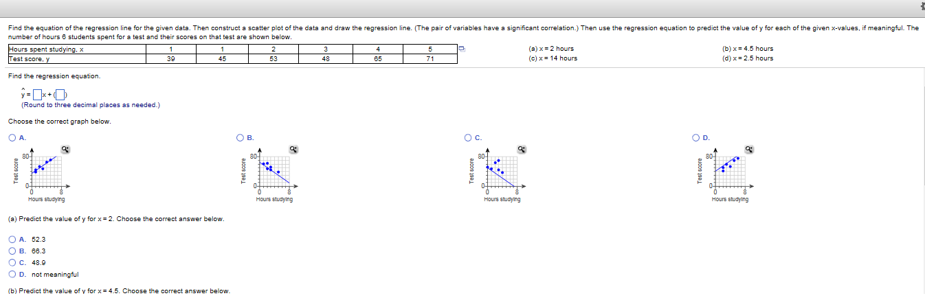 correlation and regression questions and answers pdf
