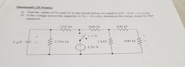 Electrical engineering archive november 17 2017 chegg find vales of ve and vo in the circuit below at t equal to a greentooth Gallery
