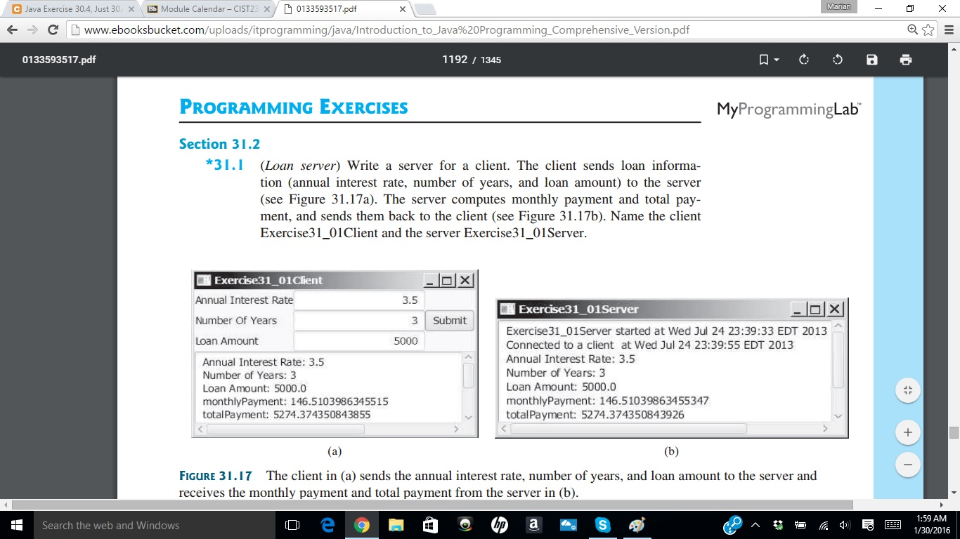 Solved: D 0133593517 pdf Java Exercise 30 4  Just 30 X Bb