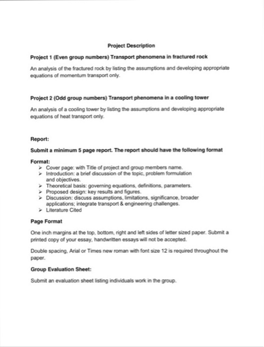 group project evaluation essay