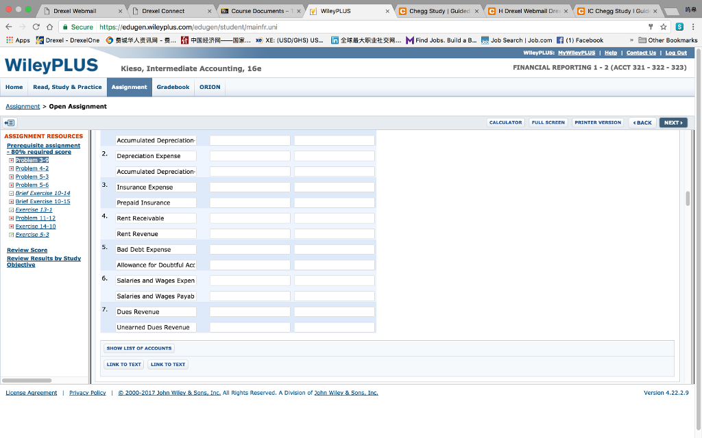 Solved: H Drexel Webmail C Chegg Study Guided X C Chegg St