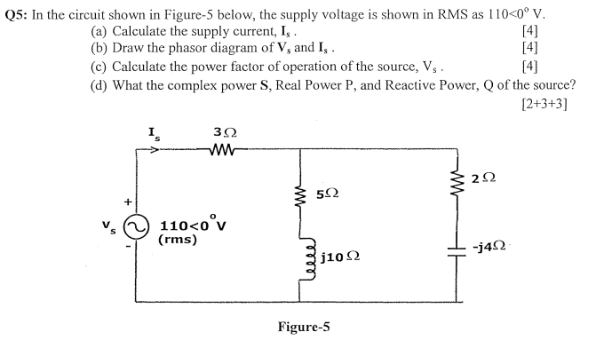 Electrical engineering archive march 17 2018 chegg q5 in the circuit shown in figure 5 below the supply voltage is fandeluxe Choice Image