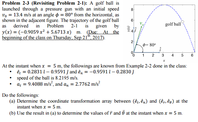 Solved Problem 2 3 Revisiting Problem 2 1 A Golf Ba Is