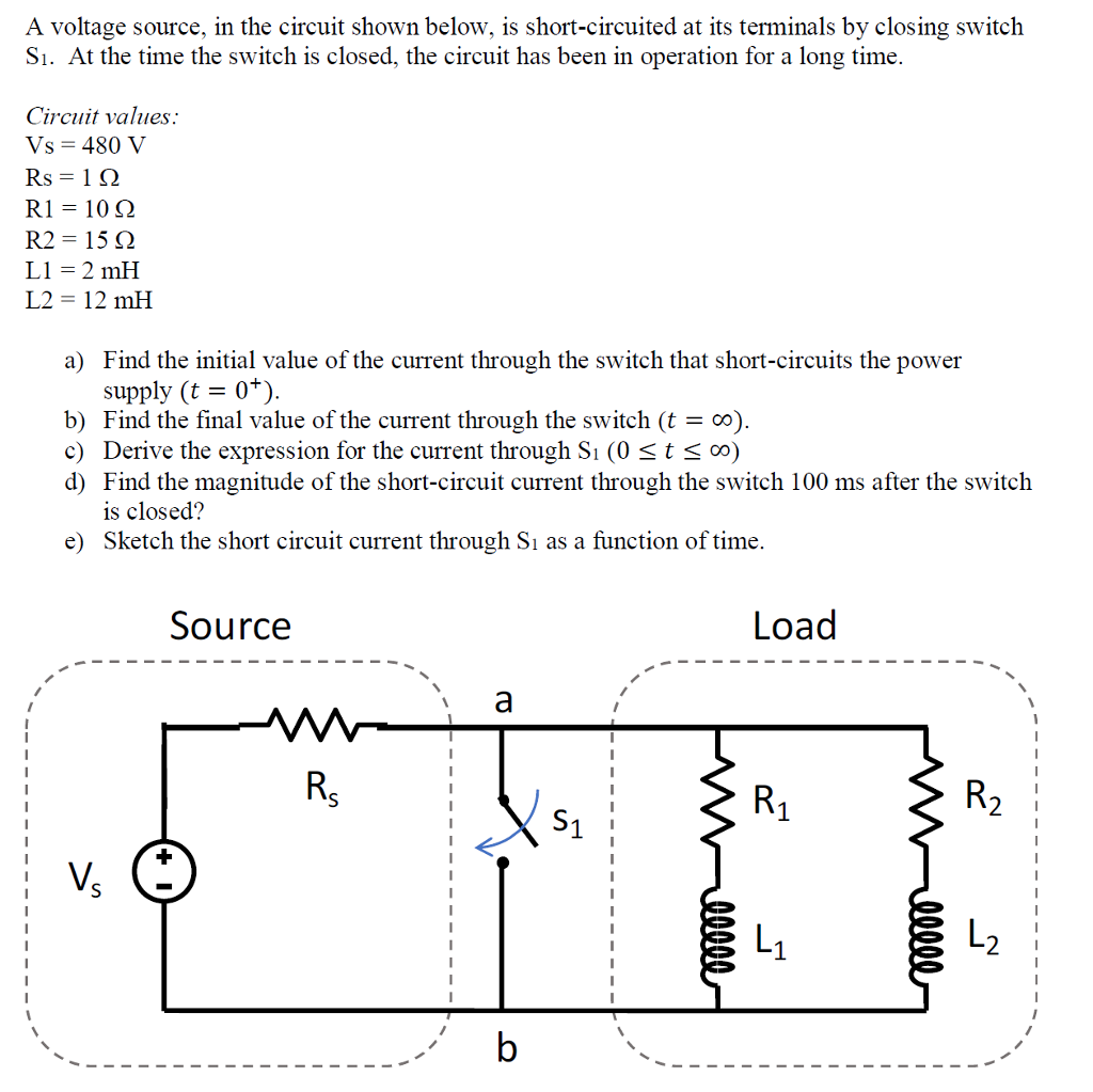 Solved This Is A Very Interesting Problem That I Cant Fig Some Parallel Circuits Have Switches In As The Circuit Shown Voltage Source Below Short Circuited At Its