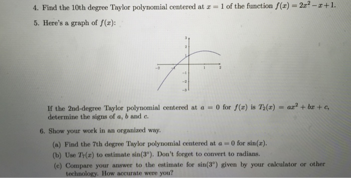 Graphs of polynomials functions.