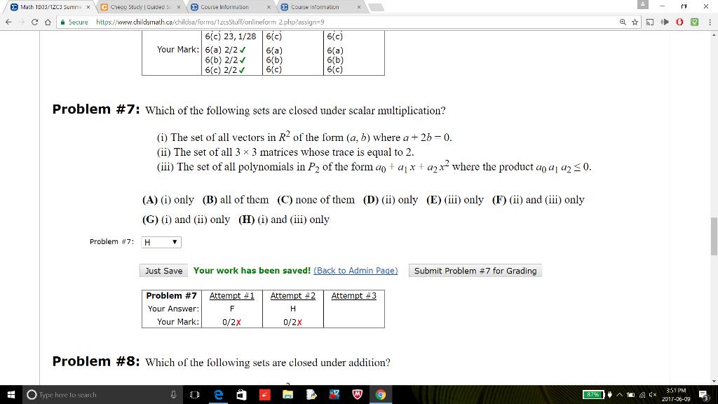 Solved: E Math 1B03/1zc3 Summe X C Chegg Study Guided 5c X