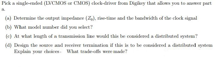 Pick A Single-ended (LVCMOS Or CMOS) Clock-driver