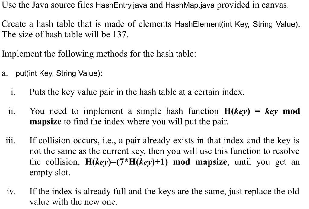Solved: HashEntry java /* * To Change This Template, Choos