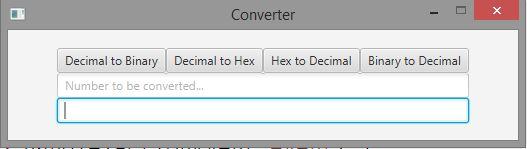 Solved: JavaFx Program To Convert Decimal To Binary,decima