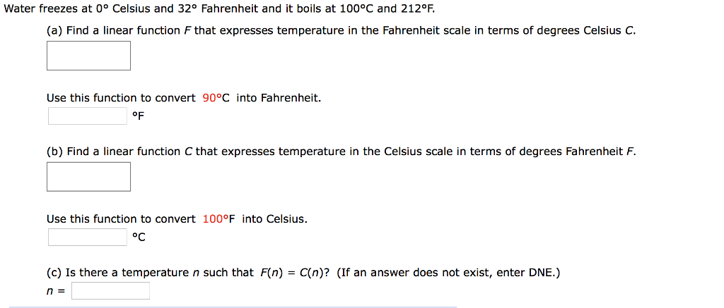 Question Water Freezes At 0 Degree Celsius And 32 Fahrenheit It Boils 100 C 212 D