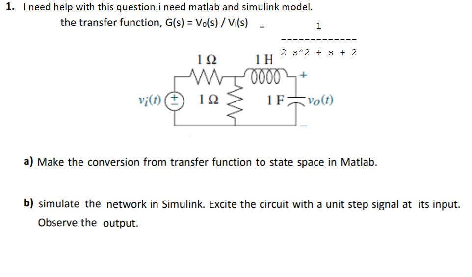 Solved: 1  I Need Help With This Question i Need Matlab An