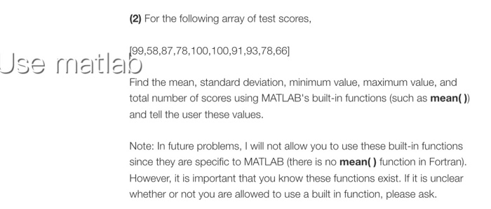 For The Following Array Of Test Scores 995887