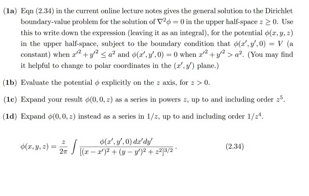1a) Eqn (2 34) In The Current Online Lecture Note    | Chegg com