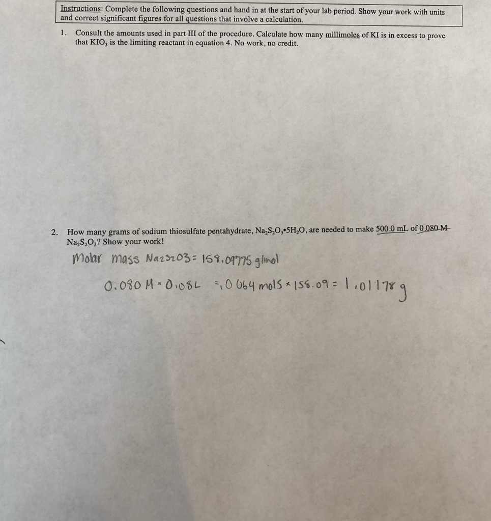 Solved Instructions Complete The Following Questions And