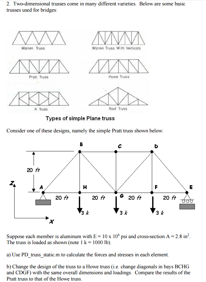 Structures Question Analyze Truss Using Given MATL    | Chegg com