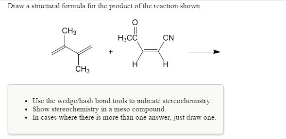 Solved: Draw A Structural Formula For The Product Of The R ...