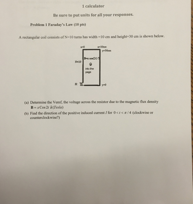 A rectangular coil consists of N=10 turns has widt